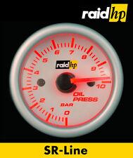 Raid hp SR Line Zusatz Instrument Öldruck Anzeige rot weiß 52mm Einbaudurchm.