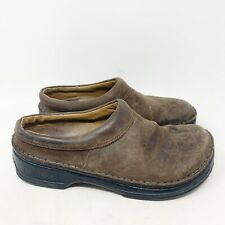 Birkenstock Laufsohle Alsa-Schaum Brown Leather Clogs Size 41 Men's 8 Womens 10