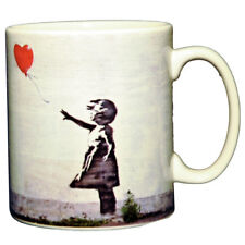 Banksy - Girl With Balloon Ceramic Coffee Mug – Makes an Ideal Gift
