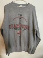 Official 2002 Detroit Red Wings Stanley Cup Champions Men's Large Sweatshirt