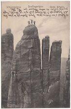 Ak Schrammsteine Freifingerturm Sächsische Schweiz Bergsteiger Kletterer (A1830