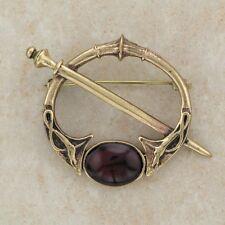 Carnelian Brooch Celtic Bronze