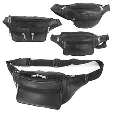 BUM BAG REAL LEATHER FANNY PACK TRAVEL FESTIVAL MONEY POUCH WAIST BELT WALLET