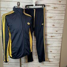 Adidas Originals ADI Firebird Tracksuit Black Gold Size L