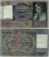 Niederlande Banknote 10 Gulden 19.02.1941 Nederlandsche Bank P-56a SEHR SELTEN