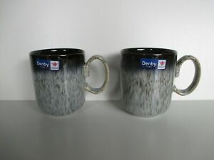 Denby Halo 2 x Straight Mugs New First Quality Excellent Condition