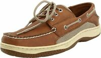 Sperry Mens Billfish Leather Closed Toe Boat Shoes, Dark Tan, Size 10.5 KseH