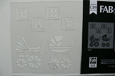 Stencil BABY Blocks & Prams - 180 x 180mm Total - C89 Sweet Baby Collection L1