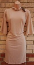 CAMEO ROSE BEIGE COLLO LUNGO Smock Baggy Flippy Baggy Flare Sleeve Tea Dress 12 M
