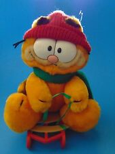"Sledding Garfield  8"" Vintage 1972 1981 R. Dakin   Korea Cute!!"