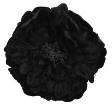Zest Beautiful Large Flower Hair Slide Clip Corsage Black