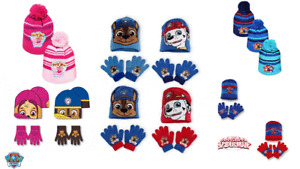 Girls Boys Hats Gloves Winter Hat & Gloves Sets Official PAW PATROL SPIDERMAN