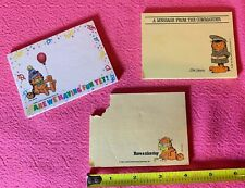 3 Vintage 1978 Garfield 3M Post-It Notes Sticky NotePad 70s *Almost Full
