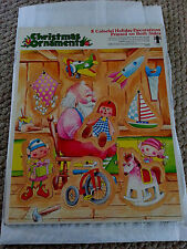 8 Colorful Holiday Decorations Printed on Both Sides  Puzzle Board 1980