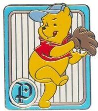 Disney Pin: WDW Cast Lanyard Series 2 - 100 Acre Wood Baseball ( Pooh Pitching)