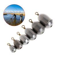 Lot 5Pcs Fishing Sinker Lead 4/7/10/14/20/28g Weights Plummet Lure Tackle Slip