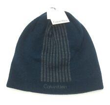 ab920e832a3 Calvin Klein Hat Beanie Skull Knit Blue Winter Mens Reversible One Size  It 212