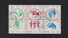 DDR 1039-44 Olympia 1964 Zusammendruck gestempelt