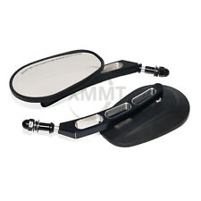 Black CNC Cut Door Hinge Off Mirrors Side Rearview Mirrors For Jeep Wrangler New