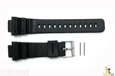 16mm Fits CASIO DW-6900 G-Shock Black PVC Watch BAND Strap DW-6600 w/ 2 PINS