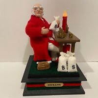 Vintage Holiday Creations Holiday Scene RARE Dickens Scrooge Musical Christmas