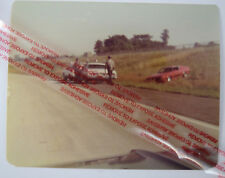 Police Life Vintage Photo 1976 Car Accident Columbus Oh Red Ford Mustang Squad