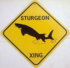 Sturgeon Xing Aluminum Fish Sign Won't rust or fade