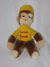 "Eden Plush Curious George Monkey Stuffed Animal Doll 1984 Yellow Vintage 12"""