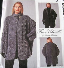 Nannette Holmberg Faux Chenille Vtg 90s Coat Pattern Misses jacket sz All