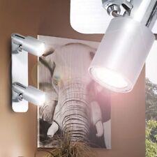 EGLO 88378 lampe x le mur 2 spots 9W GU10 modèle Sines 220V chrome spazzolat