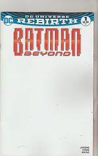 DC COMICS BATMAN BEYOND #1 DECEMBER 2016 REBIRTH BLANK VARIANT 1ST PRINT NM