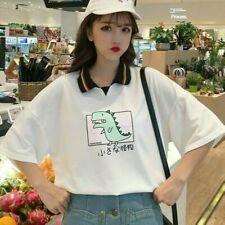 Women Girl Shirt Blouse Cute Graphic Short Sleeve Loose Tops Tee Japanese Kawaii