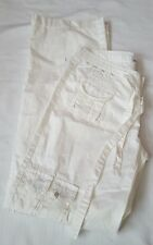 MUR MUR White Cotton Casual Cargo Pants Medium M Lots of Pockets New