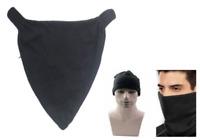 NEW Men's + Women's Fleece Black Red Blue Neck Warmer Snood Scarf Ski Hat