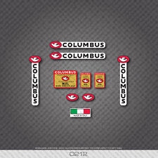0212 Columbus MXL Eddy Merckx Bicycle Frame and Fork Stickers - Decals