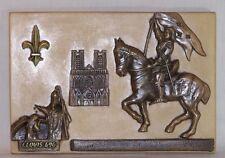 Bas relief Jeanne d'Arc - Clovis - Symboles de Reims - décoration murale