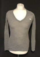 Abercrombie & Fitch Women's Casual T Shirt Grey Long Sleeve Small