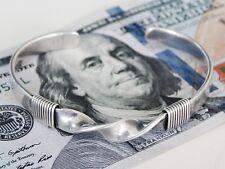 "SIGNED ""SA"" Steven Apachito Native American Sterling Silver Cuff Bracelet Vtg"
