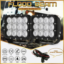 Flood Beam Cree 7INCH LED Work Lights Square Jeep Truck ATV SUV 4X4 UTE Driving