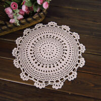 4Pcs/Lot White Vintage Crochet Lace Doilies Round Table Mats Flower Coasters 6""
