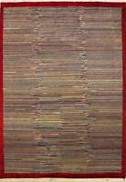 Rugstc 6x9  Gabbeh Multicolored Area Rug,Genuine Hand-Knotted, Wool Pile