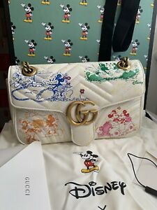 Gucci X Disney GG Marmont Small Shoulder Bag Limited Edition Mickey And Minnie