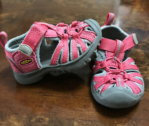 Keen toddler Girl sandal, (size 4c)11.5Cm Pink/gray Color, Waterproofs