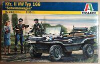 "ITALERI 313 - Kfz. II VW TYP 166 ""SCHWIMMWAGEN"" - 1/35 PLASTIC KIT"
