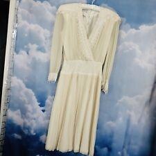 Jessica McClintock Dress Vintage Romantic Magnolia Cream Silk Off-White Lace 10