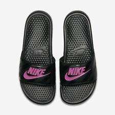nwt Nike Benassi JDI Slides Women's Size 7 8 9 10 Sandal 343881-061 Black Pink