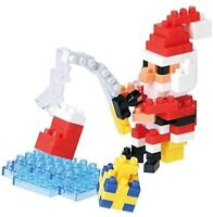 Santa Claus with a nano-block fishing