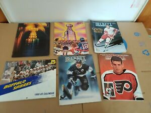 Lot of  6 Vintage Hockey Magazines Beckett Goal 1978 Stanley Cup Playoffs