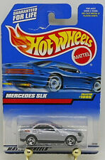 1998 Hot Wheels Mercedes SLK #1095 Metallic Silver - Saw Blade Wheels