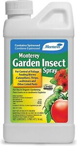 Monterey LG6150 Garden Insect Spray with Spinosad Concentrate 16oz 16 Ounce